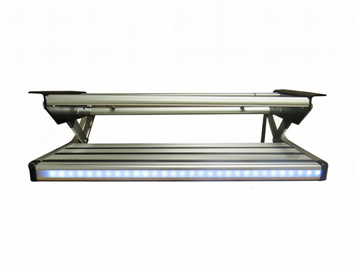Aluminium Manual Folding Single Step With 12V LED Strip Light - RV Motorhome Caravan